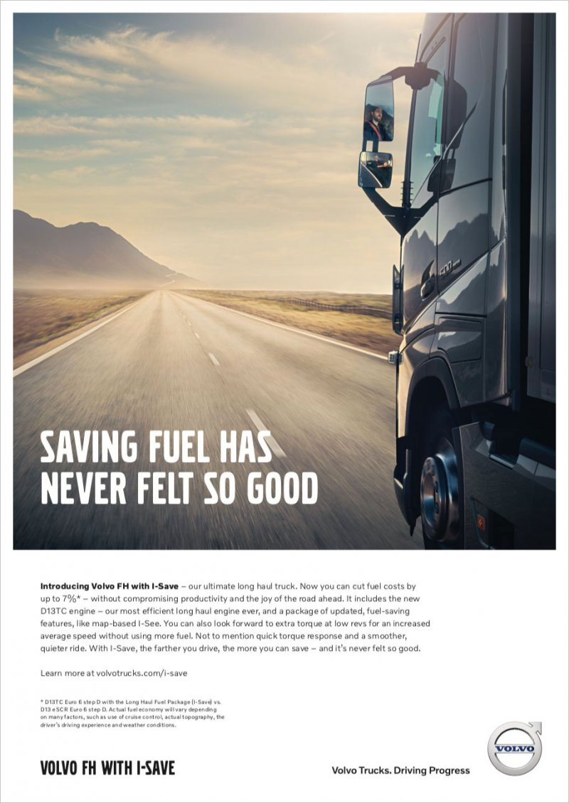 Volvo FH with I-Save Ad